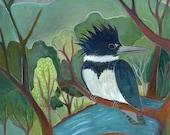 Fine Art Print, Kingfisher's Perch, bird, bird watching, nature