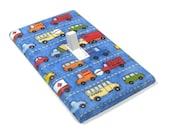 Blue Trucks and Cars Light Switch Cover Transportation Decor Car Nursery Truck Nursery Decoration Boys Bedroom