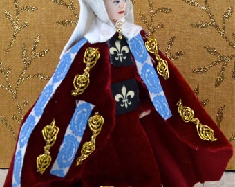 Anne Neville Doll Miniature Wife of King Richard lll Historical Art Collectible