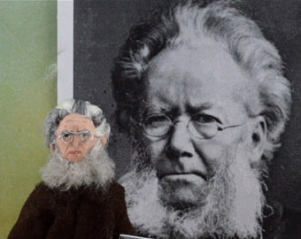 Henrik Ibsen Doll Miniature Historical Writer and Author Specialty Art