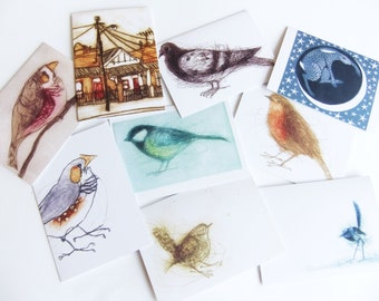 Set Of Eight Cards, Cards By Bridget Farmer