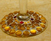 Stained Glass Gold Mosaic Goblet/Candle Holder