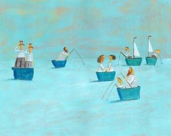 at the sea   Original painting