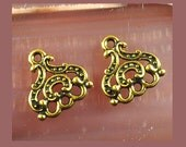 Chandelier earring finding, 3 strand component, brass earring dangle finding