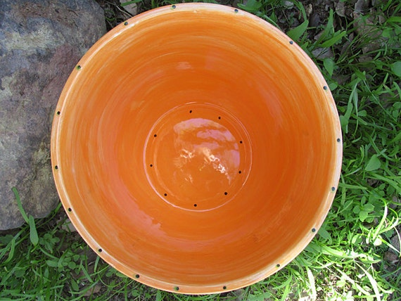 Orange pottery plates dinner plate rustic tuscan colored