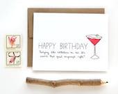 Funny Birthday Card - Birthday Card For Friend - 30th Birthday Card - Partying Like Rockstars