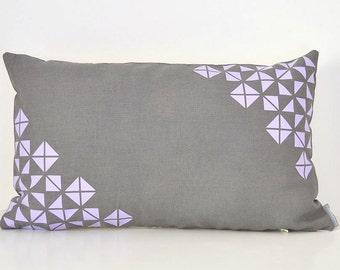 Throw pillow cover, Geometric design, Simple modern pillow Spring home decor Pattern print Linen pillow cover Lumbar pillow Triangles design
