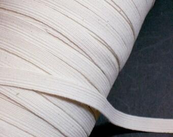 Beige Elastic, Natural Beige Elastic Band 3/8 inch wide x 5 yards, Beige Lingerie Elastic