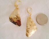 Hammered Brass Sphere Earrings