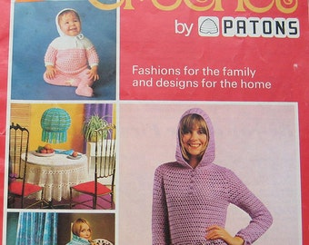 Vintage Patons 2nd Steps in Crochet Pattern Book