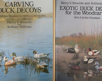 Carving Duck Decoys Pattern Book by Harry Shourds Anthony Hillman