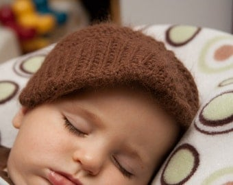 Oversized Newsboys Hat for 3 - 6 Month olds