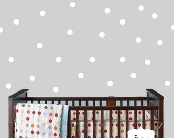 Polkadot Wall Sticker Decal - Polka Dot Wall Decal - Circle Vinyl Wall Art - Polka Dot Nursery Wall Decor - HWL167