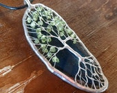 Tree of Life Pendant with Peridot