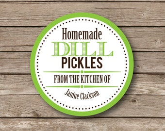 Personalized Stickers Canning baking labels Modern set of 9 WATERPROOF