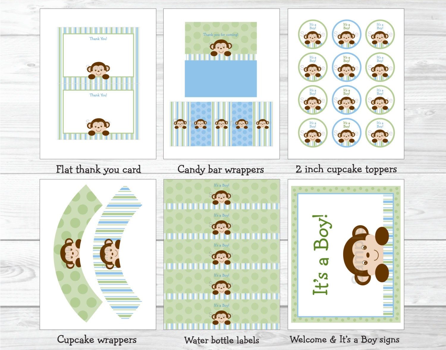 cute monkey baby shower party package monkey baby shower