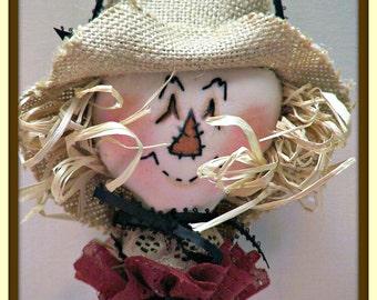 Scare Me Happy Primitive Scarecrow Ornament