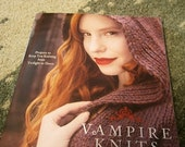 Vampire Knits Booklet, Cowls, Scaves, Fingerless Gloves,  Shawls, Twilight Knit,, Lacy Knit Gloves,Knit Magazine,