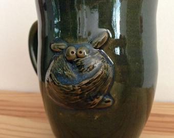 Giant Cowl Monster - 13 oz Green Mug