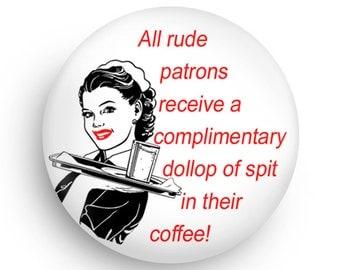 Funny Gift Funny Fridge Magnet for Waitresses