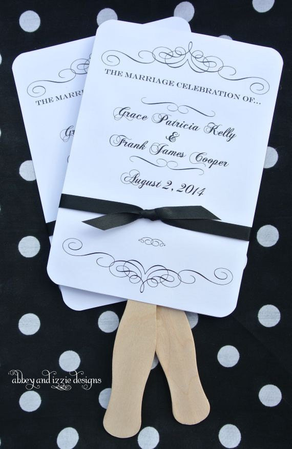 Wedding Hand Fans - Personalized Hand Fans