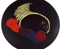 Black Silicone Cornucopia Kitchen Trivet, Table Placemat, Kitchen Hot Pad