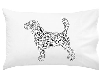 Personalized Beagle Pillowcase Pillow Cover Dog Breed Home Decor Bed Cushion