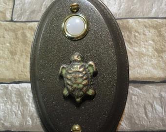 Doorbell Beach Sea Turtle Bronze