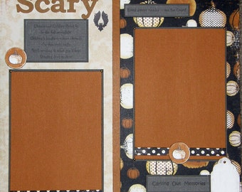 Clearance 12x12 Single Page Scrapbook Halloween Layout