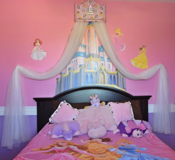 Princess Bed Canopy Girl Crown Pelmet Upholstered Awning: Disney Princess TiArA CROWN Crib Canopy Cornice By
