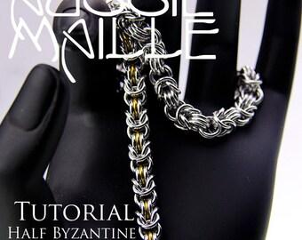 Chainmaille Tutorial - Half Byzantine Bracelet