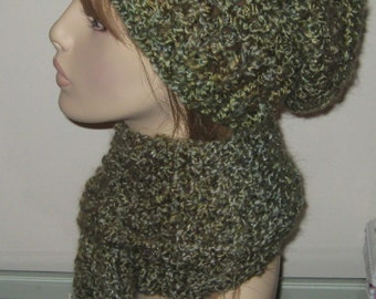 Homespun Hat and Scarf Set in Meadow