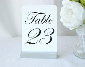 Silver Wedding Table Number Holder  (Set of 10)