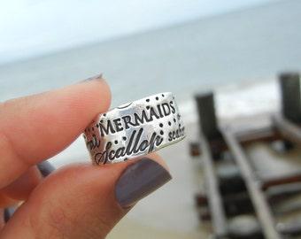 Mermaid Jewelry, Silver Mermaid Ring, Mermaid Silver Ring, Sterling Silver Mermaid Jewelry, Sterling Silver Mermaid Ring