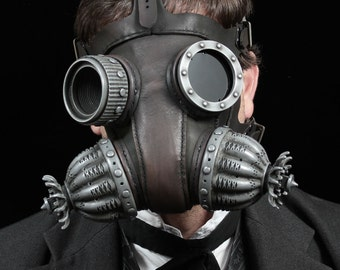 Defender gas mask in black Steampunk