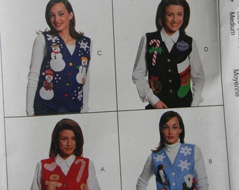 McCall's Creative Clothing Vest Pattern n8484, Uncut sizes 12 & 14