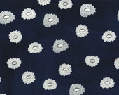 De-Stash Sale- Cotton and Steel Fabric- , Desert Flower in Navy, Hatbox by Alexia Abegg  , Only 3 yards left
