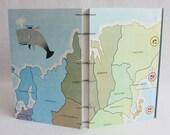 Risk Journal Recycled Game Board Book / Asia / Russia / Ukraine / Scandinavia by PrairiePeasant