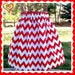 Red and White Chevron girls Twirly Skirt  Valentines 4th of July 21mos 18mos 2t 3t 4t 5 6 7 8 10 12 You Pick