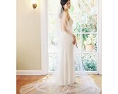 Simple cathedral tulle bridal veil, cut edge Style no. 2003