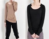 cotton Modal long sleeved T-shirt - Diary on Rajasthan (Q5105M)
