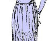 Vintage 20s Two Piece Dress Waist Tea Length Skirt Sewing Pattern 2697 B36