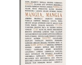 Mangia Italian Kitchen STOCK Word Art, Bus Roll, Canvas Wall Hanging, Subway Sign, 20X40