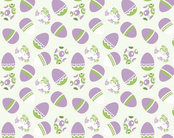 Clearance SALE!!!  RBD, Holiday Easter Eggs White (C563) - 1 yard