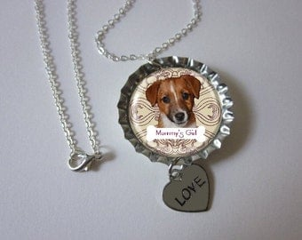 PHOTO of YOUR DOG custom bottlecap necklace Show off your Dog with a fun piece of jewerly for gift to veterinarians dog sitter and in memory