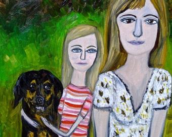 Custom oil portrait by Vivienne Strauss