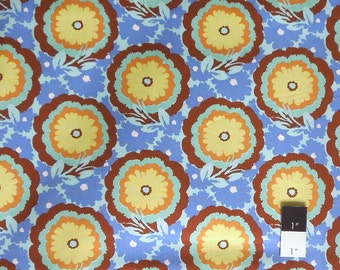 Amy Butler AB62 Soul Blossoms Buttercups Cyan Cotton Fabric 1 Yard