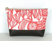 Red Cosmetic Bag / Personal Organizer / Cosmetic Pouch / Summer Travel