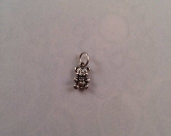 Sterling Silver Teddy Bear Mini Charm