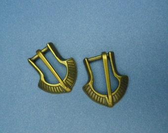 """Pair of Viking Buckles 3/8"""""""